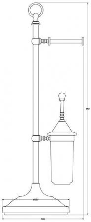 Стойка с аксессуарами 3SC Stilmar UN STI 033 напольная хром / фарфор