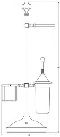 Стойка с аксессуарами 3SC Stilmar UN STI 034 напольная хром / фарфор