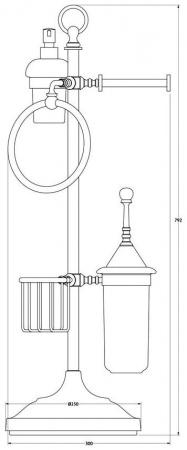 Стойка с аксессуарами 3SC Stilmar UN STI 035 напольная хром / фарфор