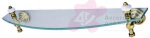 Полка Aksy Bagno Fantasia Antique 8403 A стеклянная бронза /стекло прозрачное