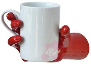 Стакан Antartidee Mani 1165 RS на держателе `Рука` цвет красный