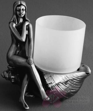 Стакан Art&Max Juno AM-B-0071D-T настольный серебро