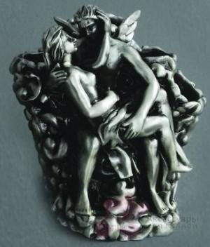Подставка Art&Max Romantic AM-B-0081B-T для зубных щеток настольная серебро