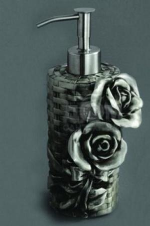 Дозатор мыла Art&Max Rose AM-B-0091A-T настольный серебро