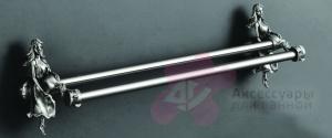 Полотенцедержатель Art&Max Athena AM-B-0618-T двойной серебро
