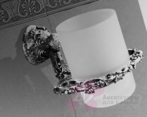 Стакан Art&Max Sculpture AM-0684-T настольный серебро
