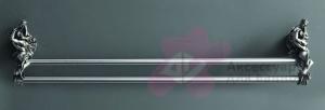 Полотенцедержатель Art&Max Romantic AM-B-0818-T двойной серебро
