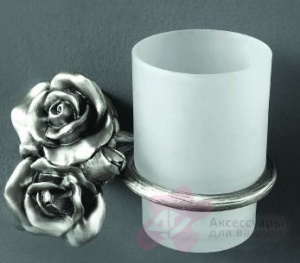 Стакан Art&Max Rose AM-0914-T настенный серебро