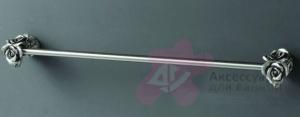 Полотенцедержатель Art&Max Rose AM-B-0917-T длина 60 см серебро