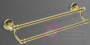 Полотенцедержатель Art&Max Antic Crystal AM-E-2648SJ-Cr двойной хром