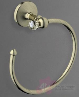 Полотенцедержатель Art&Max Antic Crystal AM-E-2680SJ-Cr кольцо хром