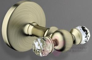 Крючок  Art&Max Antic Crystal  AM-2686SJ-Cr двойной хром