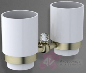 Два стакана Art&Max Antic Crystal AM-2688SJ-Cr настенный хром