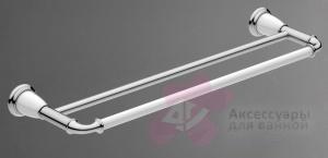 Полотенцедержатель Art&Max Bianchi AM-E-3648AW-AM-E-2609-D-Cr /AM-E-2609-D-Cr двойной хром