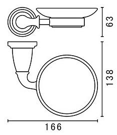 Мыльница Art&Max Bianchi AM-E-3699AW/AM-E-2603-Cr настенная хром