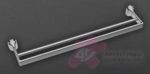 Полотенцедержатель Art&Max Ovale AM-E-4048B двойной хром