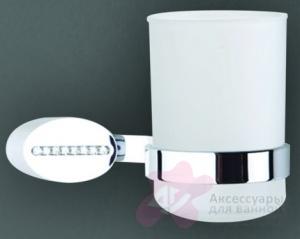 Стакан Art&Max Cristalli AM-4258 настенный хром