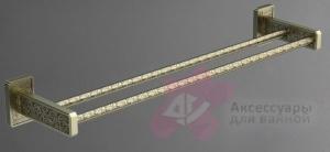 Полотенцедержатель Art&Max Gotico AM-E-4848AQ двойной бронза