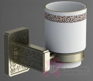 Стакан Art&Max Gotico AM-E-4868AQ настенный бронза