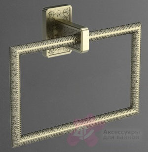 Полотенцедержатель Art&Max Gotico AM-E-4880AQ кольцо бронза