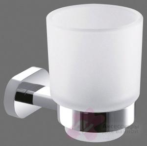 Стакан Art&Max Tito AM-8058DFN настенный хром / стекло матовое