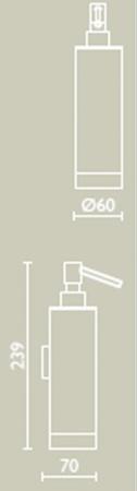 Дозатор для жидкого мыла Bagno&Associati Ambiente Elite wenge AX 128 настенный хром / wenge