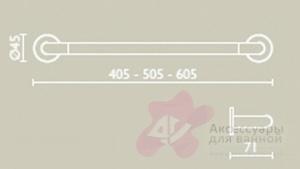 Полотенцедержатель Bagno&Associati Ambiente Elite wenge AX 209 длина 40 см хром / wenge