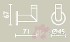 Крючок Bagno&Associati Ambiente Elite wenge  AZ 240 хром / wenge
