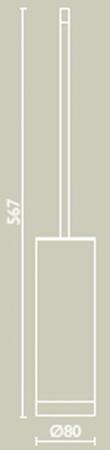 Ерш Bagno&Associati Ambiente Elite wenge AX 253 напольный хром / wenge