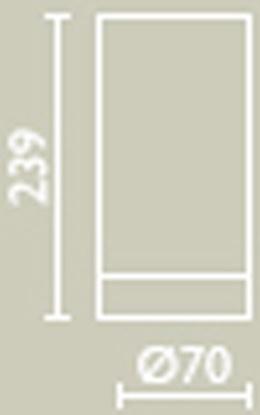 Стакан Bagno&Associati Ambiente Elite wenge AX 742 настольный хром / wenge