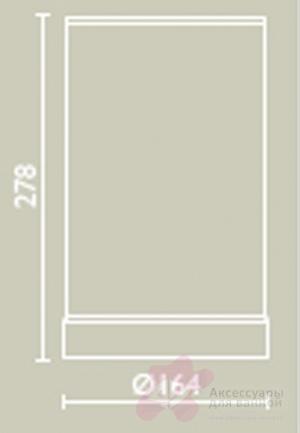 Ведро Bagno&Associati Ambiente Elite wenge AX 866 настенный хром / wenge