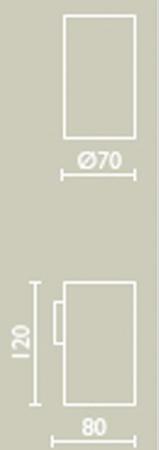 Стакан Bagno&Associati Ambiente Elite AZ 142 настенный хром