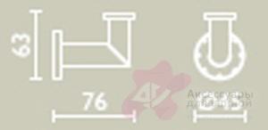 Крючок Bagno&Associati Ambiente Elite AZ 241 хром