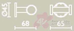 Крючок Bagno&Associati Ambiente Elite AZ 242 двойной хром