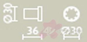Крючок Bagno&Associati Ambiente Elite AZ 243 круглый хром