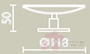 Мыльница Bagno&Associati Ambiente Elite AZ 725 настольная хром