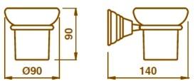 Стакан Bagno&Associati Canova CA14251 подвесной хром / керамика белая