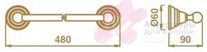 Полотенцедержатель Bagno&Associati Canova CA21151 одинарный длина 40 см хром