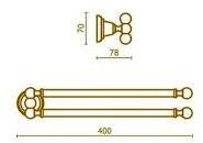 Полотенцедержатель Bagno&Associati Canova CA21451 двойной хром