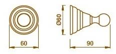 Крючок Bagno&Associati Canova CA24151 одинарный хром