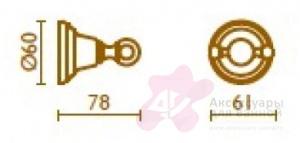 Крючок Bagno&Associati Canova CA24251 двойной хром