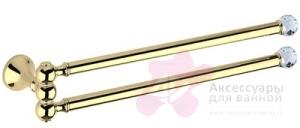 Полотенцедержатель Bagno&Associati Folie FS 21451 SW двойной хром / Swarovski