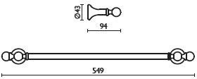 Полотенцедержатель Bagno&Associati Folie FS 21151 SW одинарный 40 см хром / Swarovski