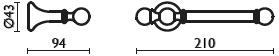 Бумагодержатель Bagno&Associati Folie FS23551 SW открытый хром / Swarovski