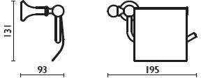 Бумагодержатель Bagno&Associati Folie FS23651 SW закрытый хром / Swarovski