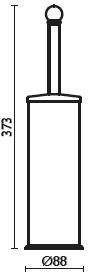 Ерш Bagno&Associati Folie FS25351 SW для туалета напольный хром / Swarovski