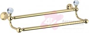 Полотенцедержатель Bagno&Associati Folie FS 21751 SW двойной хром / Swarovski