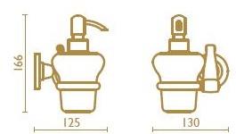 Дозатор для жидкого мыла Bagno&Associati Opera OP12992 настенный бронза / керамика белая