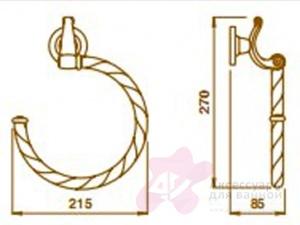 Полотенцедержатель Bagno&Associati Opera OP21392 полукольцо бронза