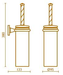 Ерш Bagno&Associati Opera OP22192 для туалета настенный бронза